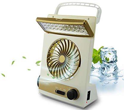 BicycleStore 3 in 1 Multi-function solar powered Portable Fan (mini)